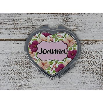 Personalized Compacts | Custom Compacts | Makeup & Cosmetics | Tropical Floral