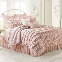 LC Lauren Conrad Ella 3-pc. Duvet Cover Set - King (Pink)