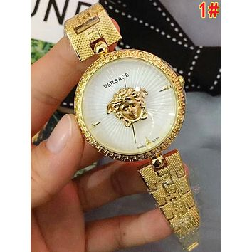 Versace Popular Woman Men Fashion Quartz Movement Watch 1#