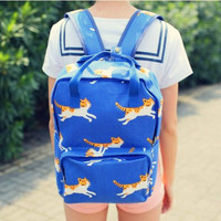 Fashion students cute cartoon cat backpack