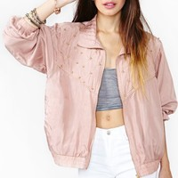 Studded Rose Bomber