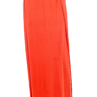 Split Sideseam Knit Maxi Skirt
