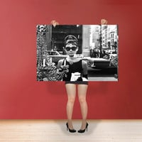 Audrey Hepburn - Classic Print Poster  Hollywood's Golden Age style Wall Art Black & white