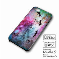 Disney New Peter Pan Quote Galaxy iPhone case 4/4s, 5S, 5C, 6, 6 +, Samsung Galaxy case S3, S4, S5, Galaxy Note Case 2,3,4, iPod Touch case 4th, 5th, HTC One Case M7/M8