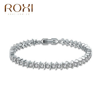 Sales ROXI New Year Gift Women luxury bracelets Classic Genuine zircon Fashion Party Attractive Romantic Bracelet