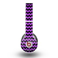 The Black & Purple Chevron Pattern Skin for the Beats by Dre Original Solo-Solo HD Headphones