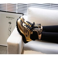 CHANE Designer Double C Fashion Women Casual Sneaker sport running white Shoes TOP quality