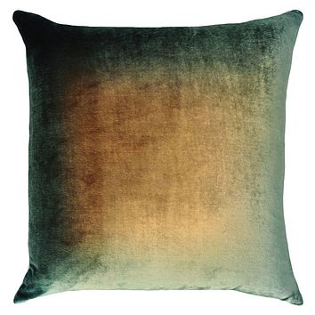 Green Gold Brown Ombre Pillow by Kevin O'Brien Studio