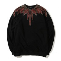 Marcelo Burlon Women or Men Fashion Casual Pattern Print Top Sweater