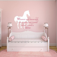 Horse Wall Decal, Horse Decal, Horse Decor, Equine Decor, Equine Wall Decal, Horse Quote Wall Decal, Girls Horse Theme Decal