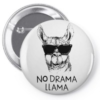 no drama llama Pin-back button