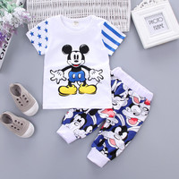 New arrival autumn spring baby boys clothing sets cartoon tops + pants suit for infant girls korea fashion style tracksuits