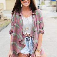 You, Me, And Plaid Cardigan
