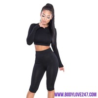 2018 Two Piece Set Sporting Bra sporting Top+ Knee Length workout Pants