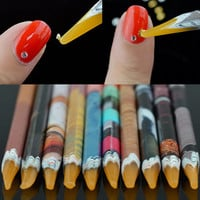 1Pc Easily Picking Up Rhinestone Picker Pen Wooden Wax Pen Nail Manicure Tool Random Color