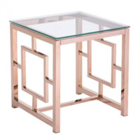 Geranium End Table | Rose Gold