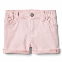 Stretch pink wash shorty short | Gap
