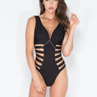 Cage Diver One-Piece Bandage Swimsuit