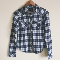 Wynn Black and Navy Flannel