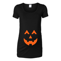 Halloween - Jack-o-Lantern Womens Maternity Top