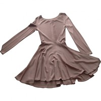 Pink viscose dress ALAÏA Pink