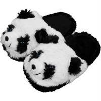 Kids Cuddlee Slippers - Panda Bear - Ages 6-12