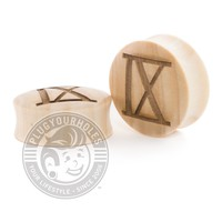 Ice Nine Kills IX Engraved Wood Plugs