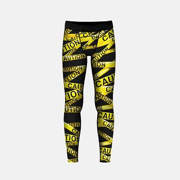 Caution Tape Tights for Kids
