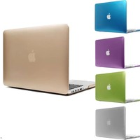 Latest Metal/Matte Color Rose Violet Champagne Gold Silver Sleeves Cover Case for Macbook air 11 12 13 pro 13 15 retina 13 15