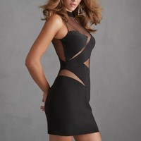 Night Moves Homecoming Dress 7210 at Peaches Boutique