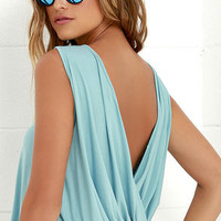 Tango Twist Seafoam Sleeveless Top