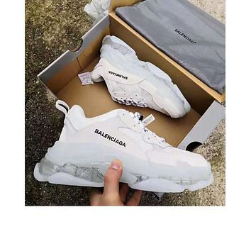 Balenciaga 2019 new retro transparent platform old shoes