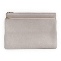 Celine DUO 104373 Women's Leather Clutch Bag,Pouch Light Rose Pink BF315949