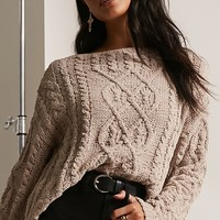 Chenille Cable-Knit Sweater