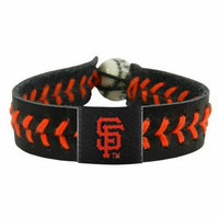 Gamewear MLB Leather Wrist Band - Giants Team Colors