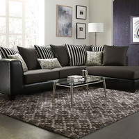 Zebra Stripe Typo Accent Sectional Sofa