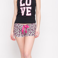 LOVE ANIMAL PRINT 2 PC PJ