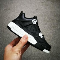 Air Jordan 4 Retro Oreo Toddler Kid Shoes Child Sneakers - Best Deal Online