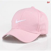 NIKE Fashion New Embroidery Letter Hook Sun Protection Travel Women Men Cap Hat 6#