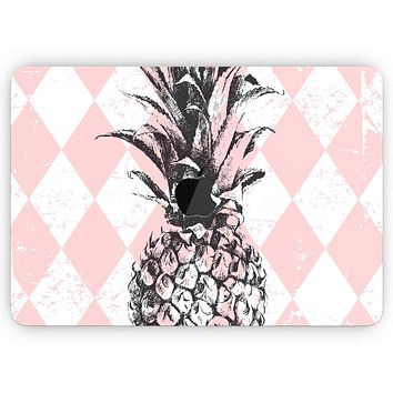 """Tropical Summer Pink Pineapple v1 - Skin Decal Wrap Kit Compatible with the Apple MacBook Pro, Pro with Touch Bar or Air (11"""", 12"""", 13"""", 15"""" & 16"""" - All Versions Available)"""