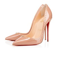 Anjalina 120mm Nude Patent Leather