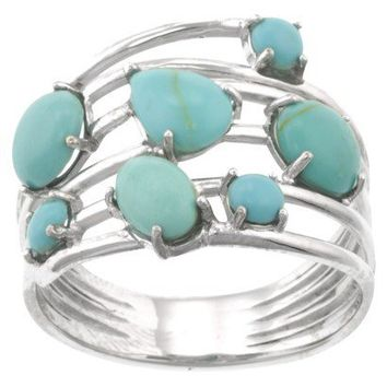 Color Stone Rings - Turquoise