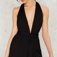 Low Biz Plunging Romper