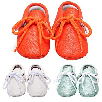 Baby Shoes For Kids Girls born Boys Shoes Casual Soft Soled Lace-up Solid Baby Moccasins Spring Autumn Sneakers Toddler