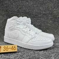 Women's and Men's NIKE Air Jordan 1 generation high basketball shoes  001