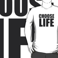 Choose Life Wham George Michael Inspired 80s Party Iconic White T Shirt