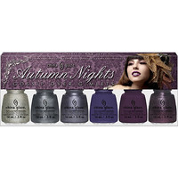 """China Glaze Online Only Autumn Nights """"Gossip Over Gimlets"""" 6pc Nail Collection Gossip Over Gimlets Ulta.com - Cosmetics, Fragrance, Salon and Beauty Gifts"""