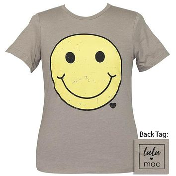 Girlie Girl Lulu Mac Preppy Smiley Face Logo T-Shirt