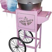 """Nostalgia Electrics CCM600 Commercial Cotton Candy Machine CCM600 on Wheels, 34x 21x50"""" 6 Cone Rack, 4' Tall, Designed from 1900's Carnival Circus Era"""
