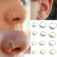 ac DCCKO2Q Nose Ring Fashion Body Jewelry Nose Stud Ring Stainless Steel Nose Piercing  Bead